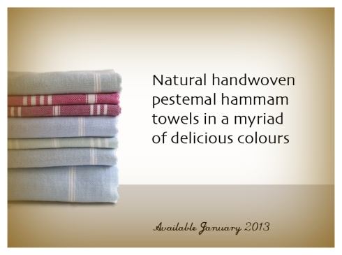 Handwoven pestemal hammam towels in Rock Ribbons