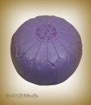 Rock Ribbons Lilac Moroccan Leather Pouf